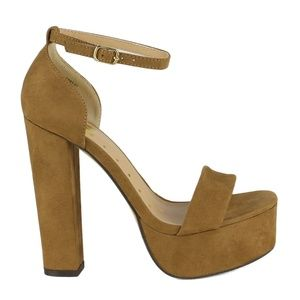 1b3ee922d06 Fahrenheit Shoes - Kerry-01 Chunky Heel Women s High Heel Sandals